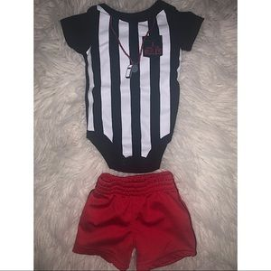Baby boys short sleeve onesie and shorts outfit